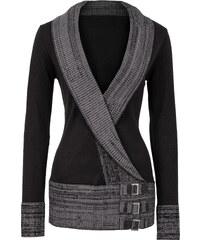 BODYFLIRT boutique Pull en maille noir femme - bonprix