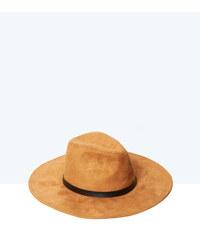 Chapeau en cuir à bord large Etam
