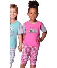 Taro Bavlněné dětské pyžamo Doggie růžové