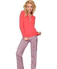 Taro Bavlněné dámské pyžamo Nika červené