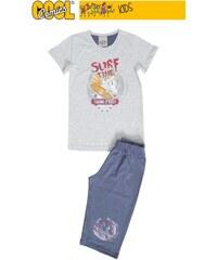 Vienetta Kids Dětské pyžamo kapri Žralok - šedá