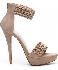 KOI Perfektní béžové semišové sandále