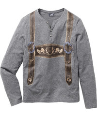 RAINBOW Langarmshirt Slim Fit in grau für Herren von bonprix