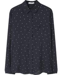 MANGO Fließendes Hemd Mit Muster
