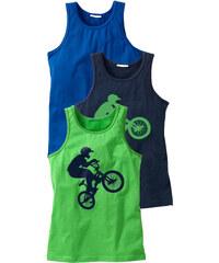 bpc bonprix collection Unterhemd (3er-Pack) in grün für Jungen von bonprix