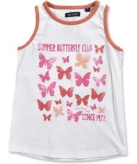 Blue Seven Dívčí tílko s motýlky - bílé