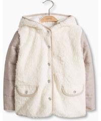 Esprit Vatovaná bunda, um. kožešina, mat. směs