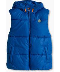 Esprit Vatovaná basic vesta s kapucí