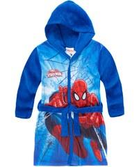Spiderman Coral fleece Bademantel mit Kapuze blau in Größe 104 für Jungen aus 100 % Polyester