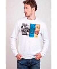 SAM 73 Pánské tričko s dlouhým rukávem MT 409 000 - bílá