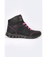 SAM 73 Dámské boty s kontrastním prošíváním WF 45 500 - černá