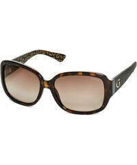 GUESS GUESS Oversized Square Logo Sunglasses - tortoise