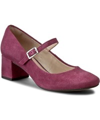 Halbschuhe CLARKS - Chinaberry Pop 261202644 Plum Suede