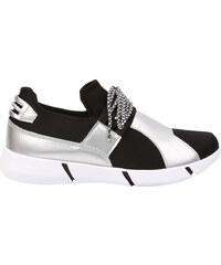 Lesara Sneaker mit mattglänzenden Metallic-Details - 40