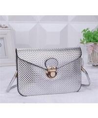 Lifestyle Dámská stříbrná metalická mini kabelka