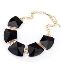 Lodestar Masivní černý geometrický náhrdelník