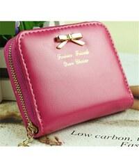 Lifestyle Dámská malá peněženka s mašlí růžová