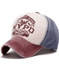 ANG-E kšiltovka s nápisem NYPD - červeno-modrá