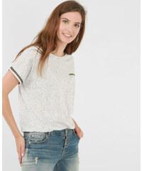 T-shirt chiné fantaisie gris chiné, Femme, Taille L -PIMKIE- MODE FEMME
