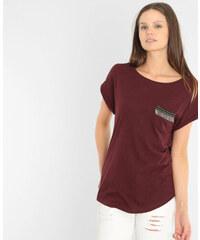T-shirt poche fantaisie grenat, Femme, Taille XS -PIMKIE- MODE FEMME
