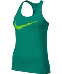 Nike Damen Lauftop Dry Contour Running Tank grün