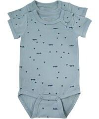 Melton Unisex Baby Body Numbers, 2er-Pack Jersey-Kurzarmbody Aop, 2er