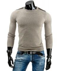Pánský svetr Likemo béžový - béžová