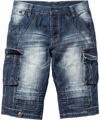 RAINBOW Bermuda long en jean Regular Fit bleu homme - bonprix