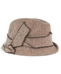 Art of Polo Vlněný hnědý klobouk s mašlí