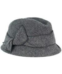Art of Polo Vlněný šedý klobouk s mašlí