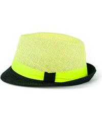 Art of Polo Žluto-černý trilby klobouk se stuhou