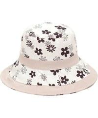 Art of Polo Měkký lněný klobouk s hnědými kytičkami