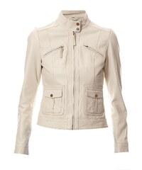 Oakwood Veste en cuir - blanc