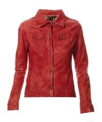 Oakwood Veste en cuir - rouge