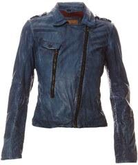 Oakwood Janyce - Lederjacke - jeansblau