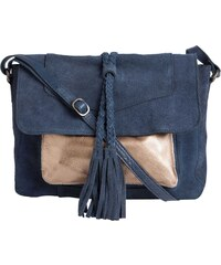 Pieces Ledertasche - marineblau