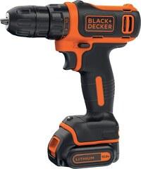 BLACK & DECKER Akkubohrschrauber »BDCDD12«, wahlweise mit 1 oder 2 Akkus