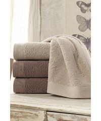 Soft Cotton Ručník LEAF 50 x 100 cm Hnědá