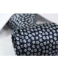 Modrá květovaná kravata pro pány