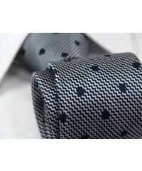 Šedo-modrá vzorovaná kravata