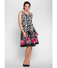 Große Größen: sheego Style Kleid mit Druck, schwarz-weiß, Gr.40-58