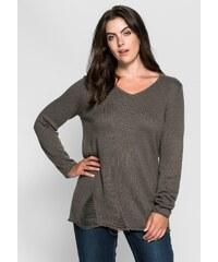 Große Größen: sheego Trend Pullover im Destroyed-Look, dunkelgrau, Gr.40/42-48/50