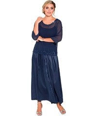 Große Größen: sheego Style Plissee-Abendrock, indigo, Gr.20-29
