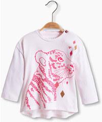 Esprit Pruhované tričko s tygrem, 100% bavlna