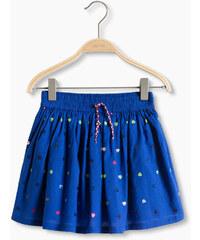 Esprit Bavlněná sukně s pestrými pajetkami
