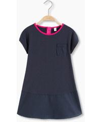 Esprit Bavlněné žerzej. šaty, aplikace z popelínu