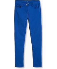 Esprit Bavlněné strečové kalhoty s lesklými pruhy
