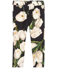 Dolce & Gabbana Girl-Hose Slim Fit mit Tulpenaufdruck