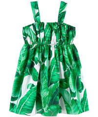 Dolce & Gabbana Voile-Sommerkleid mit Botanischer-Garten-Motiven