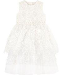 Oscar de la Renta Besticktes Kleid aus Organza und Seide